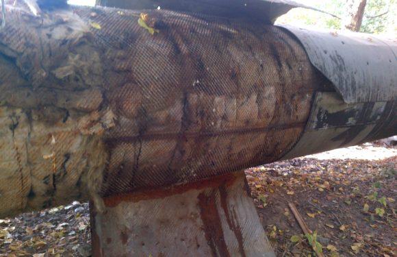 Чернігівської ТЕЦ виявлено крадіжку армувальної сітки та металевої обмотки  труб.